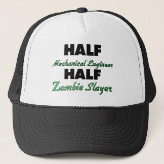 Half Mechanical Engineer Half Zombie Slayer Trucker Hat