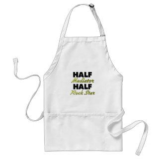 Half Mediator Half Rock Star Aprons