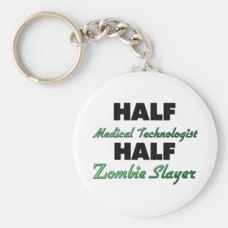 Half Medical Technologist Half Zombie Slayer Keychain
