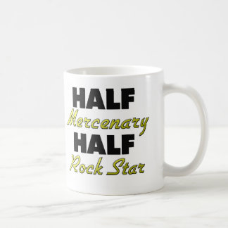 Half Mercenary Half Rock Star Classic White Coffee Mug