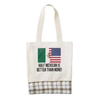 Half Mexican Is Better Than None Zazzle HEART Tote Bag