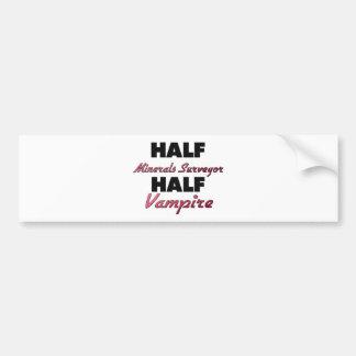 Half Minerals Surveyor Half Vampire Bumper Sticker