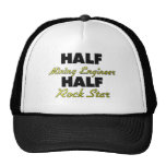Half Mining Engineer Half Rock Star Mesh Hat