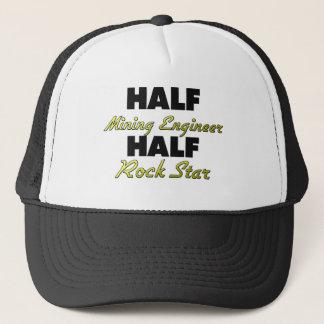 Half Mining Engineer Half Rock Star Trucker Hat