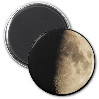 Half Moon 2 Inch Round Magnet