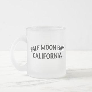 Half Moon Bay California Frosted Glass Coffee Mug