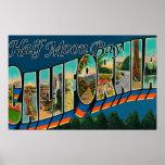 Half Moon Bay, California - Large Letter Scenes Poster