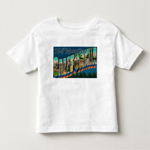 Half Moon Bay, California - Large Letter Scenes Toddler T-shirt
