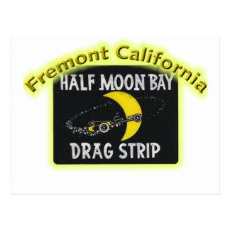 Half Moon Bay Dragstrip Postcard