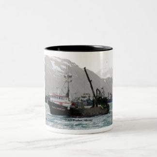 Half Moon Bay, Fishing Trawler in Dutch Harbor Two-Tone Coffee Mug