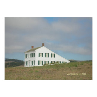 Half Moon Bay House on a Hill Poster