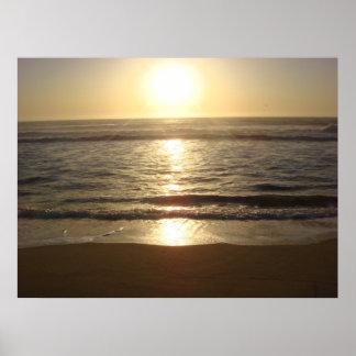 Half Moon Bay, puesta del sol de CA Póster