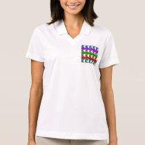 HALF MOON Beautiful Pattern Polo Shirt