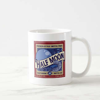 Half Moon Betta Classic White Coffee Mug
