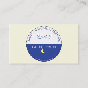 Half moon business cards templates zazzle half moon business card may 2015 logo only colourmoves