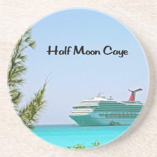 Half Moon Caye Bahamas Drink Coasters