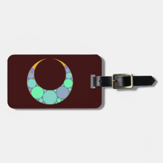 Half-moon crescent tag for bags