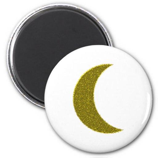 Half-moon crescent refrigerator magnets
