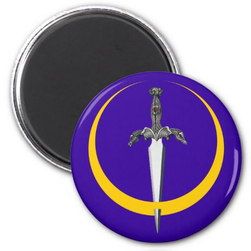 Half-moon dagger crescent more dagger magnets