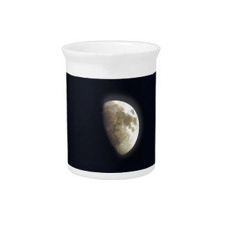 Half Moon Lunar Astronomy Photo Beverage Pitcher