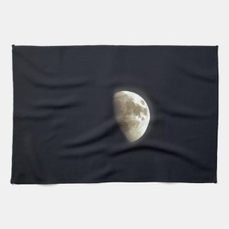 Half Moon Lunar Astronomy Photo Kitchen Towel