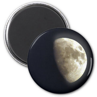 Half Moon Lunar Astronomy Photo Magnet