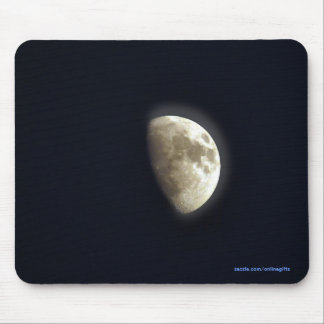 Half Moon Lunar Astronomy Photo Mouse Pad