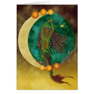 Half-Moon Mermaid Card