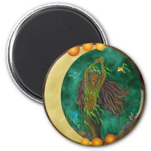 Half-Moon Mermaid Magnet