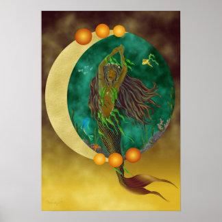 Half-Moon Mermaid Print