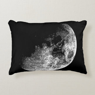 Half Moon Planet Space Astronomy ARt Accent Pillow
