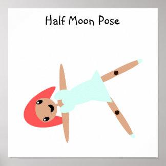 Half Moon Pose Poster