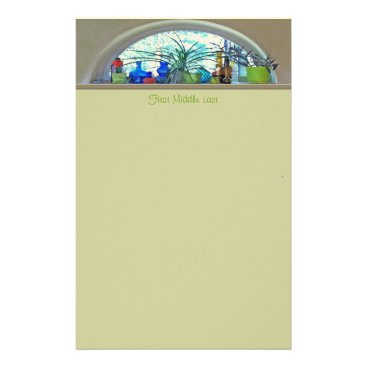 Half Moon Window Watercolor Stationery