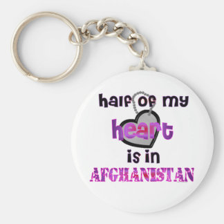 HALF MY HEART AFGHANISTAN BASIC ROUND BUTTON KEYCHAIN