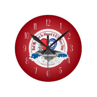 Half My Heart - Aircraft Carrier Round Clock