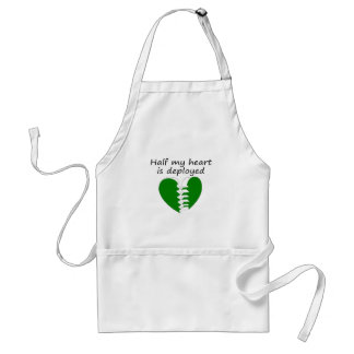 Half My Heart Is Deployed Adult Apron