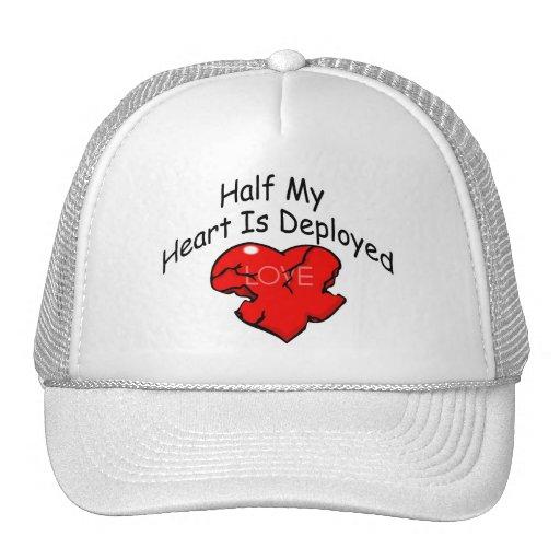 Half My Heart Is Deployed (Heart) Hat