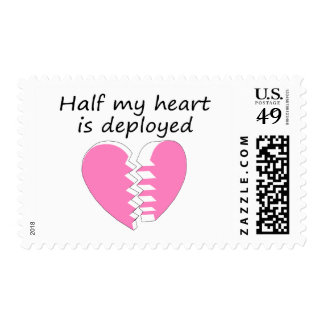 Half My Heart Is Deployed (Pink) Postage