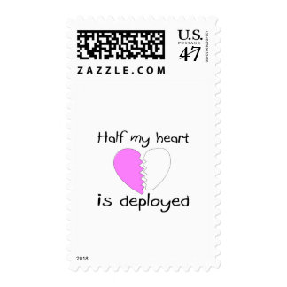 Half My Heart Is Deployed Postage