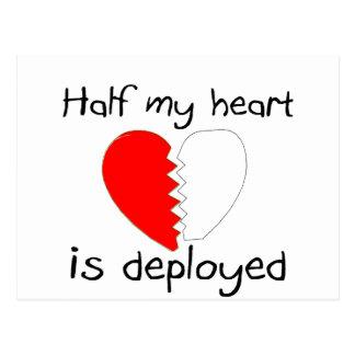 Half My Heart Is Deployed Postcard
