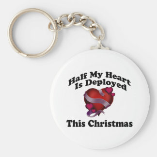 Half My Heart Is Deployed This Christmas Key Chain