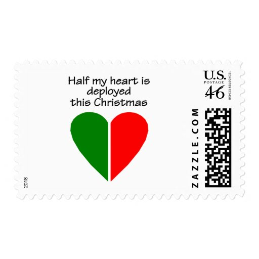 Half My Heart Is Deployed This Christmas Stamp