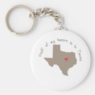 Half My Heart is in Texas Keychain