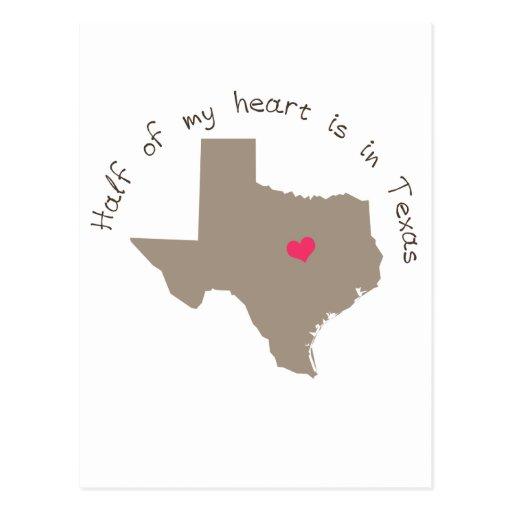 Half My Heart is in Texas Post Card