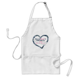 Half My Heart Is On The USS STENNIS Adult Apron