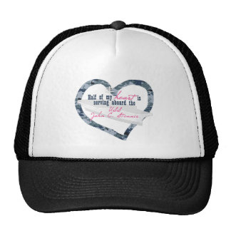 Half My Heart Is On The USS STENNIS Trucker Hat