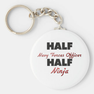 Half Navy Forces Officer Half Ninja Key Chains