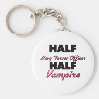 Half Navy Forces Officer Half Vampire Key Chains