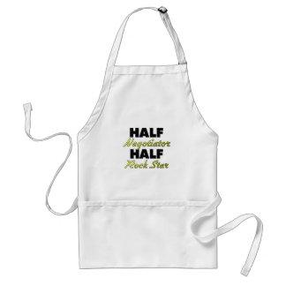 Half Negotiator Half Rock Star Aprons