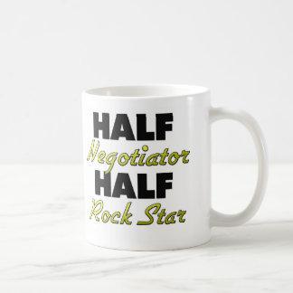 Half Negotiator Half Rock Star Classic White Coffee Mug